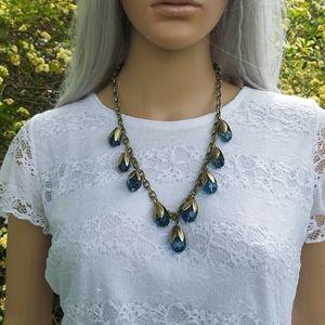 Blue stone statement necklace